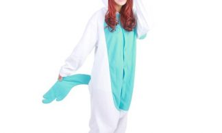 green and white unicorn onesie