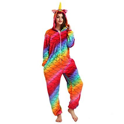 Womens Rainbow Unicorn Onesie 1